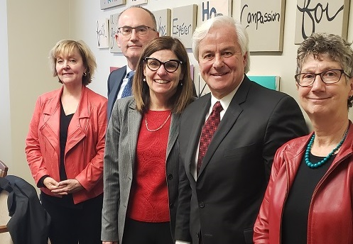 2019 04 09 Minister Tassi with CFN (l to r) DeLancey, Williams, Muscedere, Barrie